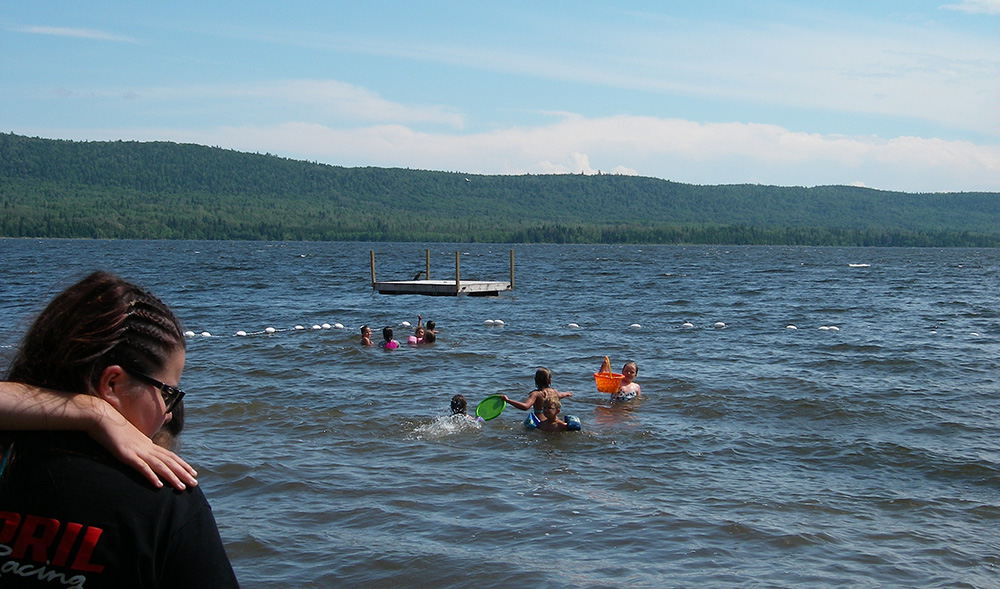 baignade dans le lac témiscouata - baignade au bas-st-laurent